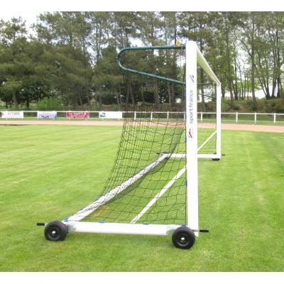 paire de buts de foot trasportables à 8 aluminium ovoide avec lests intégrés