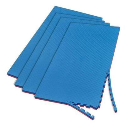 LOT DE 4 TAPIS EMBOITABLES EVA ROUGE/BLEU
