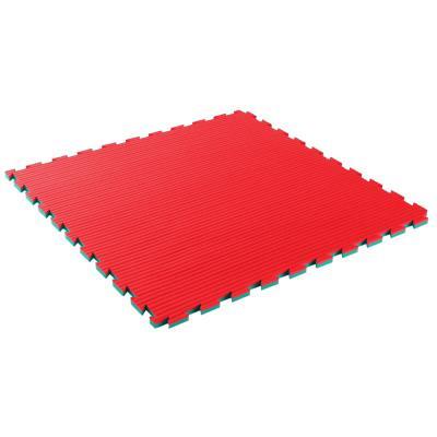 Tapis de sol pour karaté 22 mm épaisseur vert / rouge
