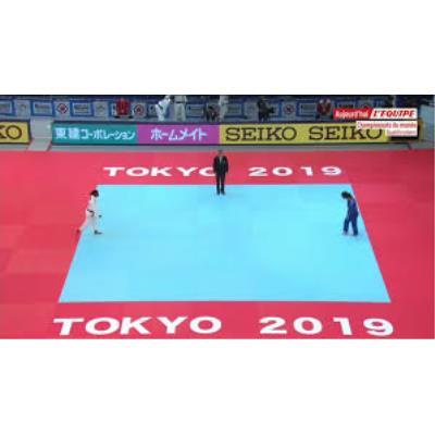 TATAMIS VINYLE 4CM ANTIDERAPANT BLEU TOKYO