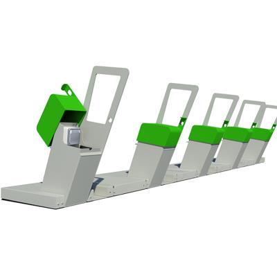 rack de stationnement vélos à assistance électrique vae 2 places