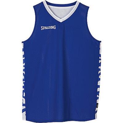 maillot de basket réversible adulte bleu royal blanc