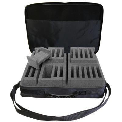 Mallette chronomètres / cardio semi-rigide nylon avec compartiments mousse