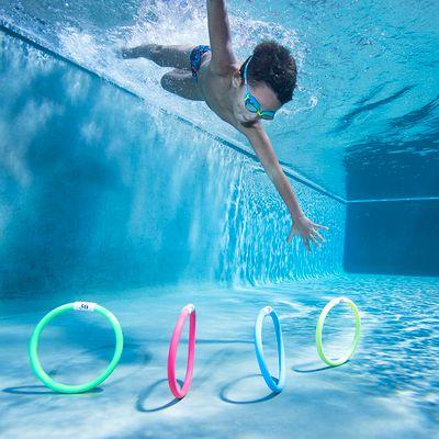 4 anneaux lestés qui favorisent l' apprentissage de l'immersion des enfants