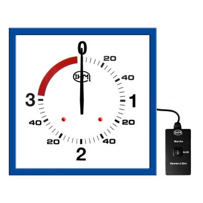 Horloge boxe anglaise 3 1 mn – 625x625mm – Filaire