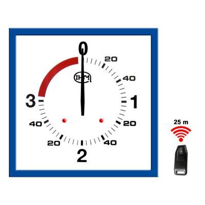 Horloge boxe anglaise 3 1 mn – 625x625mm –  Télécommande