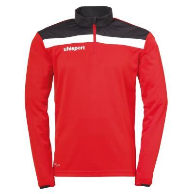 sweat offense uhlsport 1/4 zip junior  rouge blanc