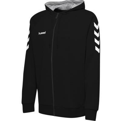 hoodie h hummel zip  coton noir