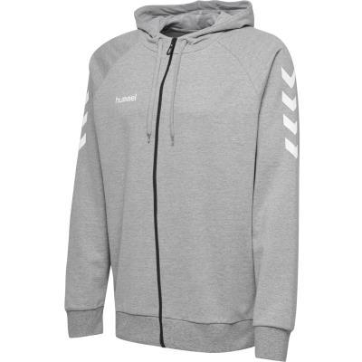 hoodie h hummel zip coton gris