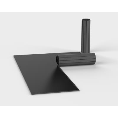 tapis de sol sports de combat enroulable 1m x 1,8m flexiroll 5cm lisse noir