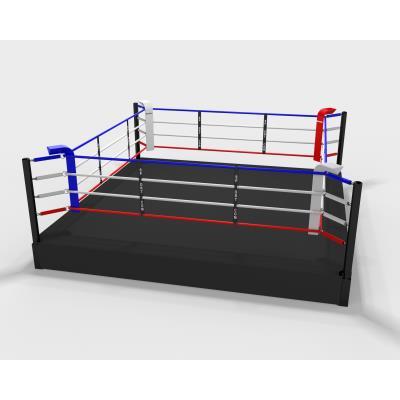 ring de boxe sur podium de 50cm, 5m ext, 4m int