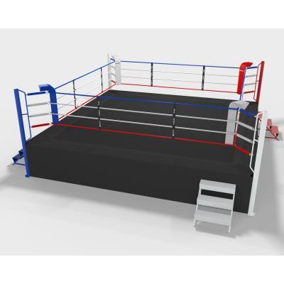 ring de boxe compétition sur podium 1m, 6m ext, 5m int