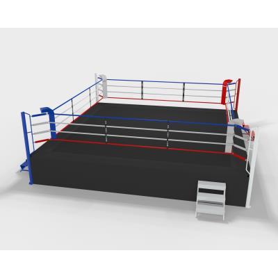 ring de boxe compétition sur podium 1m, 7m ext, 6m int