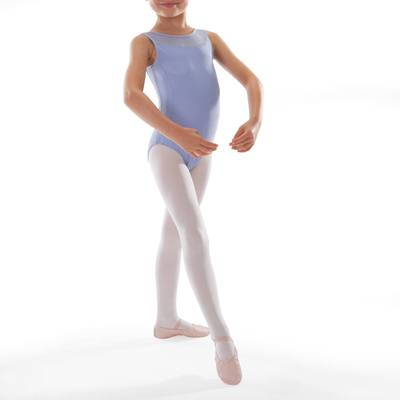 Justaucorps de danse classique bi-matière fille parme