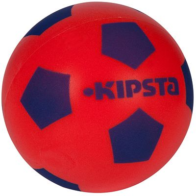 BALLON FOOTBALL EN MOUSSE 300 TAILLE 4 ROUGE BLEU
