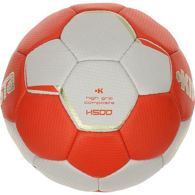 Ballon de handball H500 taille 2 rouge blanc