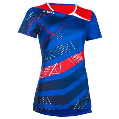 Maillot de handball H500 bleu et rouge