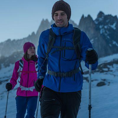 Veste trekking Windwarm 500 softshell homme noir