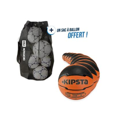 kit 10 ballons basket b300 taille 7 avec sac offert