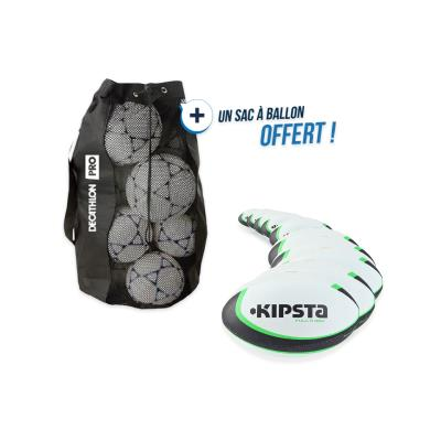 Kit 10 ballons rugby R300 taille 4 avec sac offert