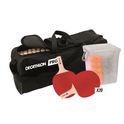 kit de 20 raquettes de tennis de table fr700 avec balles