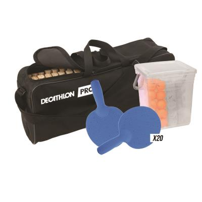 kit de 20 raquettes de tennis de table fr700 outdoor avec balles