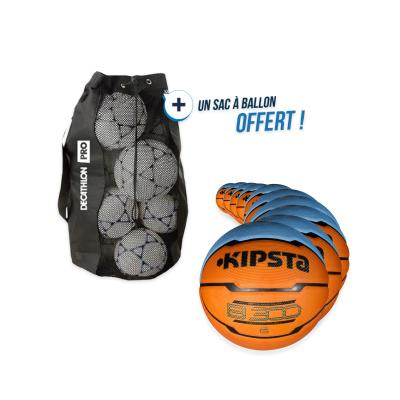 kit 10 ballons basket b300 taille 6 avec sac offert