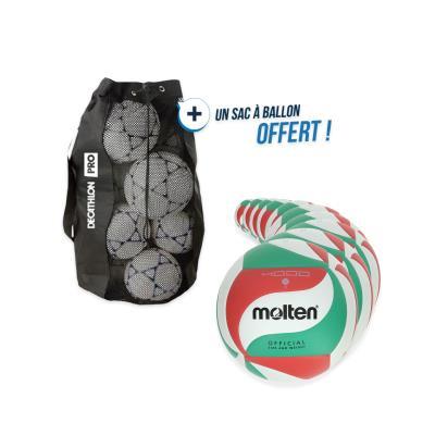 kit 10 ballons volley molten vm5-4000 avec sac offert