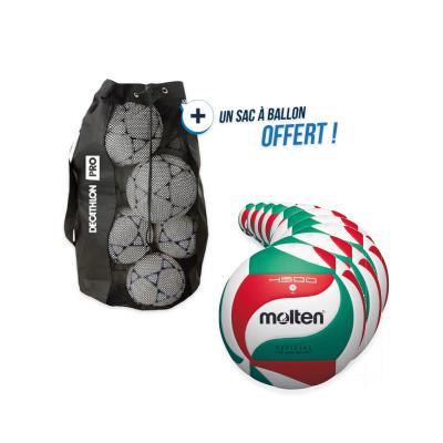 kit 10 ballons volley molten v5m 4500 avec sac offert