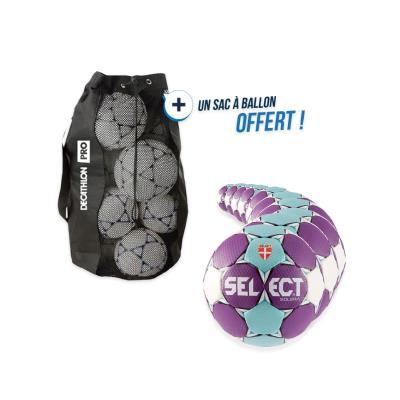 kit 10 ballons handball select solera taille 2 avec sac offert