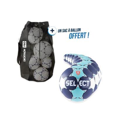 kit 10 ballons handball select solera taille 3 avec sac offert