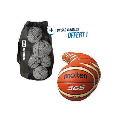 kit 10 ballons basket molten ghx taille 5 avec sac offert