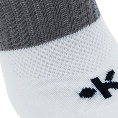 Chaussettes hautes football adulte F500 blanc