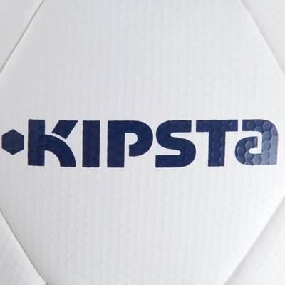Ballon de football F500 Hybride taille 5 blanc bleu ocre