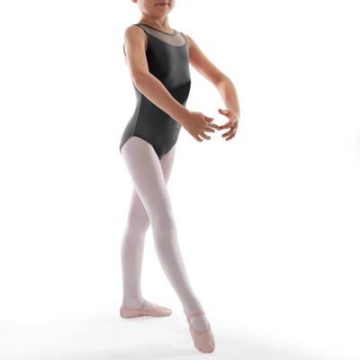 Justaucorps de danse classique bi-matière fille noir