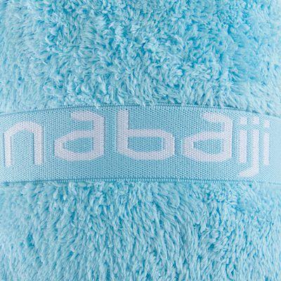 Serviette microfibre ultra douce bleu ciel taille L 80 x 130 cm