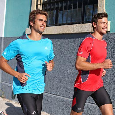 Tee shirt Running homme Elio bleu gris