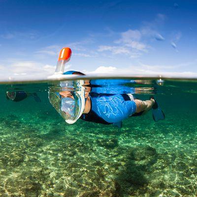 Masque de snorkeling en surface Easybreath Turquoise