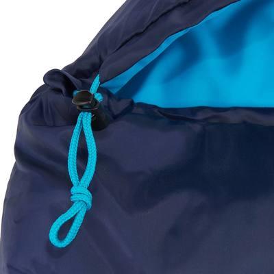Sac de couchage de randonnée FORCLAZ 10° bleu zip gauche