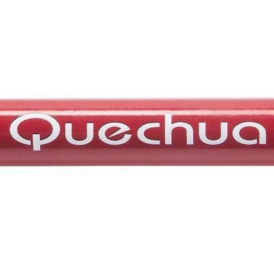 1 bâton de randonnée FORCLAZ 300 Rouge, 3 brins, 100% aluminium,léger et robuste