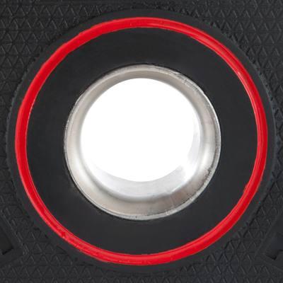disque musculation avec poign es 28 mm caoutchouc 5 kg. Black Bedroom Furniture Sets. Home Design Ideas