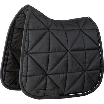 Tapis de selle équitation cheval STRASS dressage noir