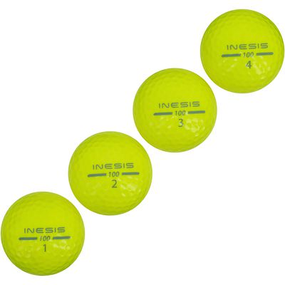 LOT DE 12 BALLES DE GOLF JAUNE