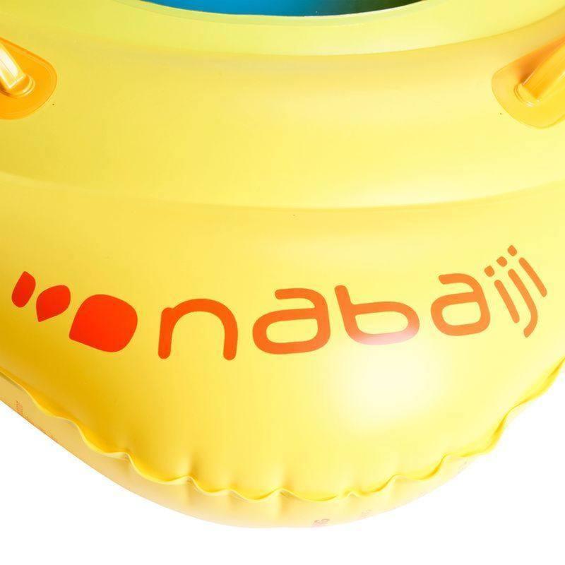 Bouée siège bébé jaune avec hublot et poignées pour  l'enfant de 7 à 11 kg