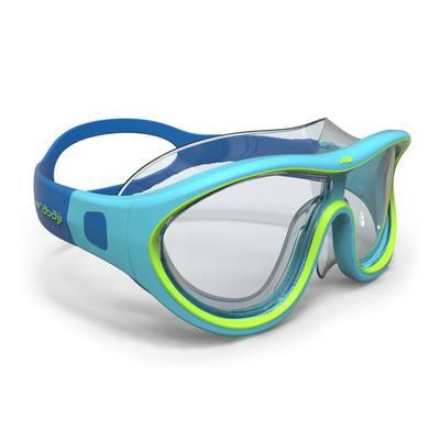 Masque de natation 100 SWIMDOW Taille S Bleu Vert