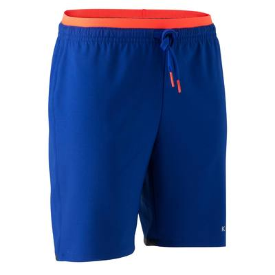 Short de football enfant F500 bleu indigo