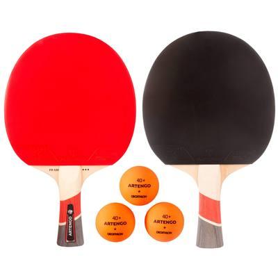 Set de 2 raquettes de tennis de table FR 530 et 3 balles FB 830+