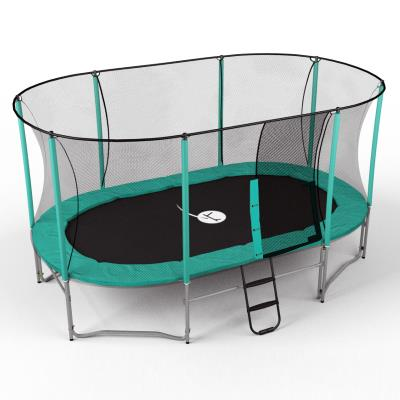trampoline ovalie 430 x 245 cm avec filet