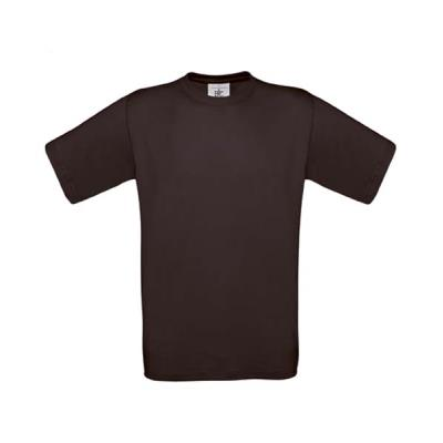 TEE-SHIRT COTON 190G MIXTE ADULTE CHOCOLAT