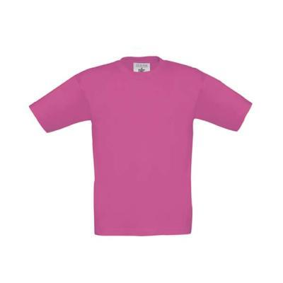 TEE-SHIRT COTON 190G ENFANT ROSE